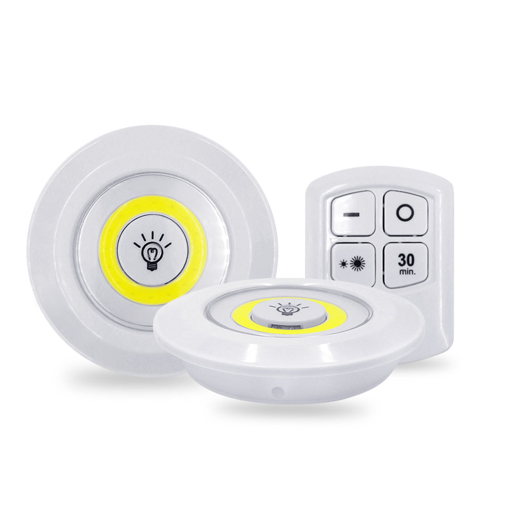 3W COB Adjustable LED Remote Control Night Light Emergency Light Suitable For Kitchen Wardrobe Stairs Corridor Cabinet
