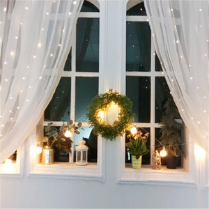 Image 4 - 200/300LED 태양 커튼 문자열 조명 웨딩 홀리데이 파티 문자열 조명 방수 야외 실내 크리스마스 빛 장식