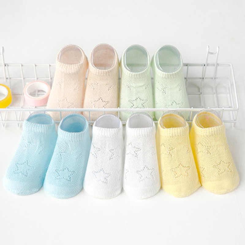 5 pares de calcetines de bebé veranos bebé infantil calcetines finos de malla de algodón transpirables niños niñas huecos calcetines de encaje para recién nacidos Sokken meias