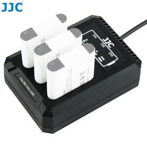 Image 3 - JJC USB Triple Battery Charger for Ricoh GRIII WG6 Olympus Tough TG6 TG5 TG4 TG3 TG2 TG1 Cameras for Ricoh DB 110 Olympus LI 90B