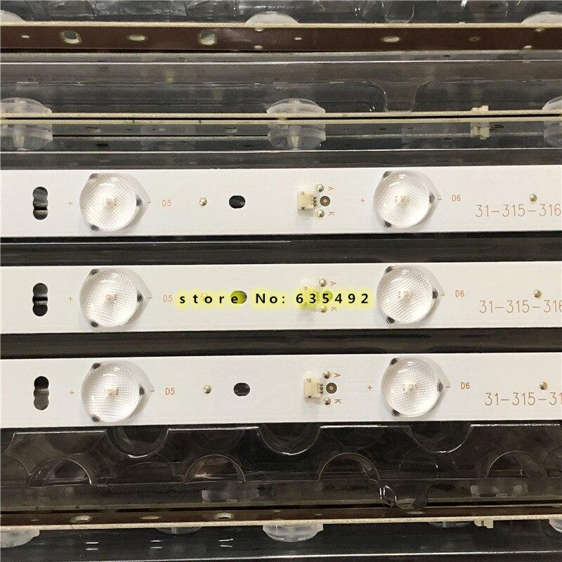 1SET=3PCS LED Backlight For LE32F50 LE32F33 Light Bar ZH32D08-ZC14F-01 1-315-316-33 303XH320031