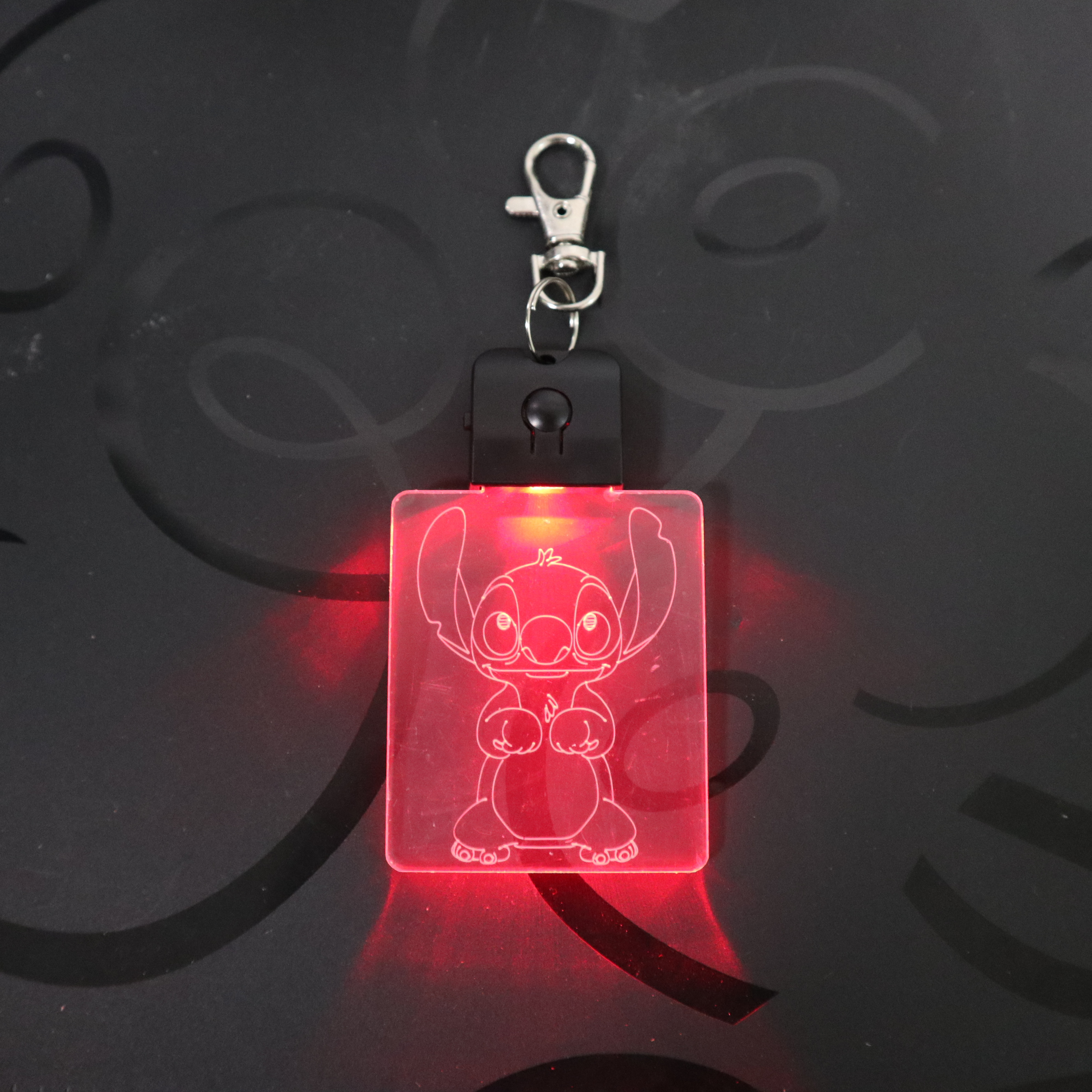 Stitch Keychain Cartoon 3D Arylic Night Light LED Magical Table Lamp Lighting Colors Decoration Back To School Children's Gift