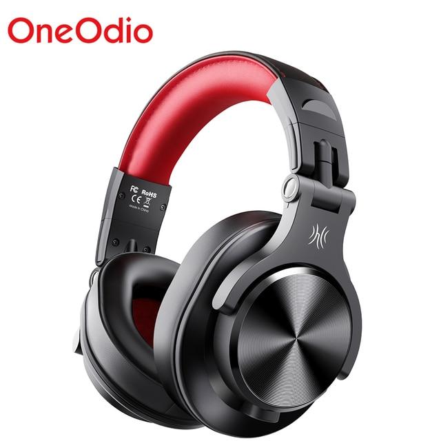 Oneodio A70 المهنية DJ سماعات المحمولة قابل للتعديل اللاسلكية/سماعة رأس سلكية Bluetooth5.0 سماعة لتسجيل رصد