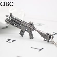 2019 New AK47 AMW Gun KeyChains Tritium Metal CS GO Keyring Key Holders Best Friends Chaveiros Llaveros Men Porta Porte Clef(China)