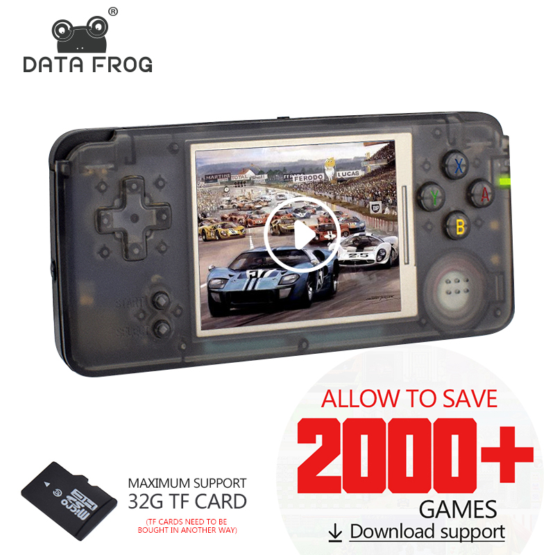 Data Frog Retro Handheld Game Console 3.0 Inch Console Built-in 3000 Classic Games Support For GBA/NEOGEO/CP1/CP2 image