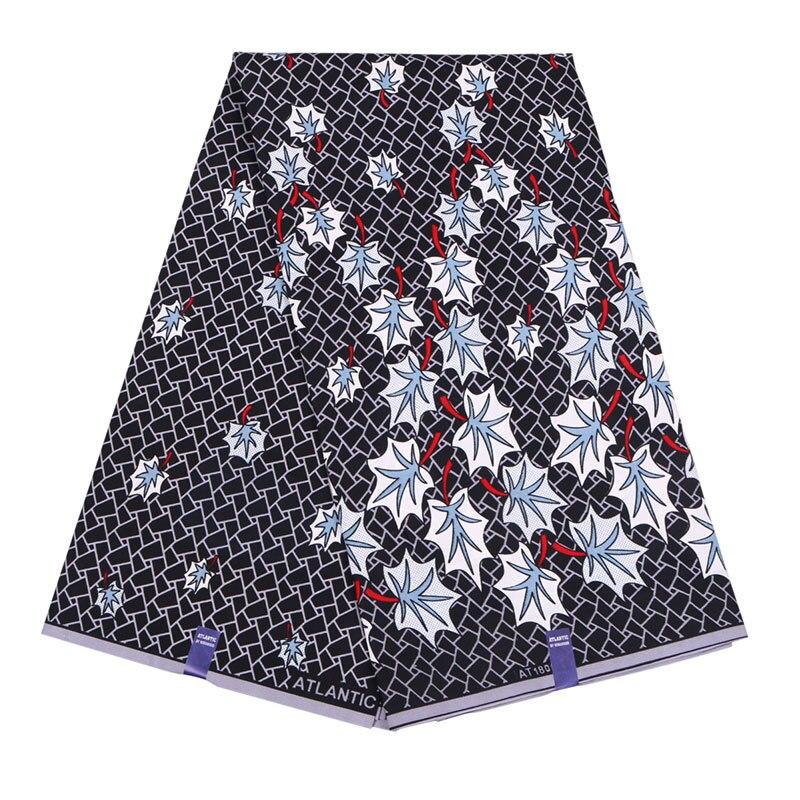 Veritable Guarantee Real Dutch Wax  Print Gray Fabric African Real Dutch Wax 6Yards\set