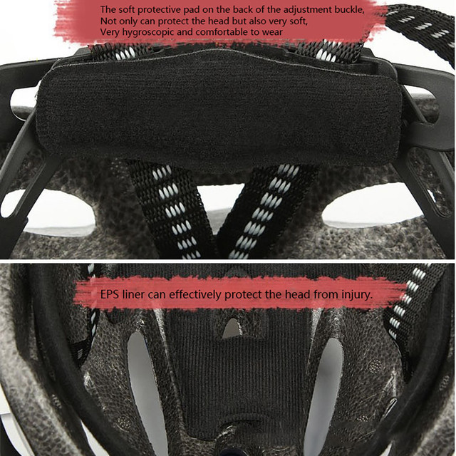 2020 capacete de ciclismo de bicicleta ultraleve eps + pc capa mtb estrada capacete integralmente-mold ciclismo capacete ciclismo com segurança boné #725 6