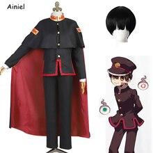 Anime Wc Gebonden Hanako Kun Cosplay Kostuum Jibaku Shounen Hanako Kun Shirt Broek Mantel Volledige Set Nene Yashiro jurk Rok Pruik