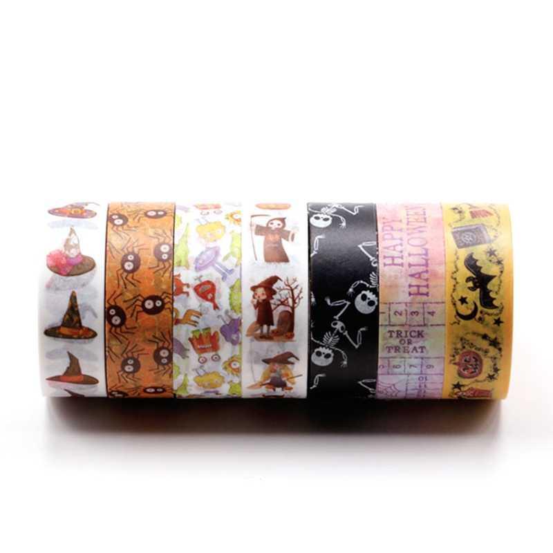 Cielo estrellado cielo bosque unicornio Floral láser dorado decorativo cinta de Washi de hoja de DIY Scrapbooking etiqueta adhesivo etiqueta cintas de enmascarar