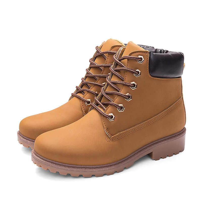 Chống Thấm Nước Mắt Cá Chân Giày Cho Nữ Mùa Đông Giày 2019 Mới Của Phụ Nữ Giày Nữ Mùa Đông Cho Nữ Giày Bốt Martin Phẳng boot