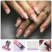 1m/1.5m/2m Fiberglass Nail Form UV Gel DIY Nails Tool White Acrylic Nail Extension Builder Tips With Scraper DIY Nail Spa(China)