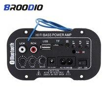 Bluetooth dijital amplifikatör kurulu 30W ses amplifikatörleri ile USB dac FM radyo TF çalar Subwoofer Amplificador için araba hoparlörü
