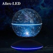 Lámpara de globo de levitación magnética, Bola de cielo estrellado flotante colorida, luz de rotación automática antigravedad, luces nocturnas, novedad