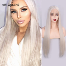 AISI QUEENS Synthetic Lace Front Wigs for Black Women Long S