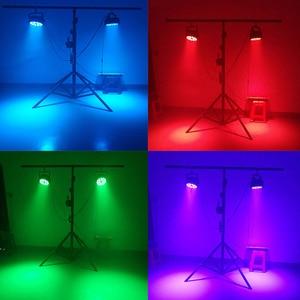 Image 5 - 4ピース/ロットアルミledパー18x1 8ワット/18 × 12ワットrgbwa + uvライトdmx 512制御舞台効果照明djディスコシアターパーティーライト