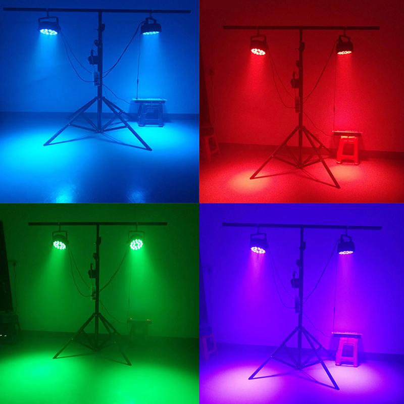 4pcs lot Aluminum Alloy LED Par 18x18W RGBWA UV Color Lighting DMX512 Channels For Event Disco Party Nightclub Ballroom Stage in Stage Lighting Effect from Lights Lighting