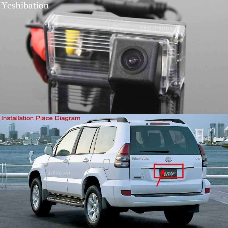 for Toyota Land Cruiser LC 100 //LC120 Prado//LC200 2002~2009 Car Rear View Camera+8LED Back Up Reverse Parking Camera//Plug Directly
