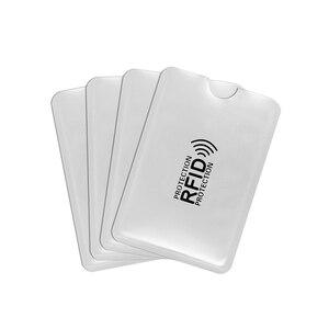 500 шт серебро против сканирования RFID рукав протектор кредитной ID карты Алюминиевый держатель фольги анти-сканирования карты рукав