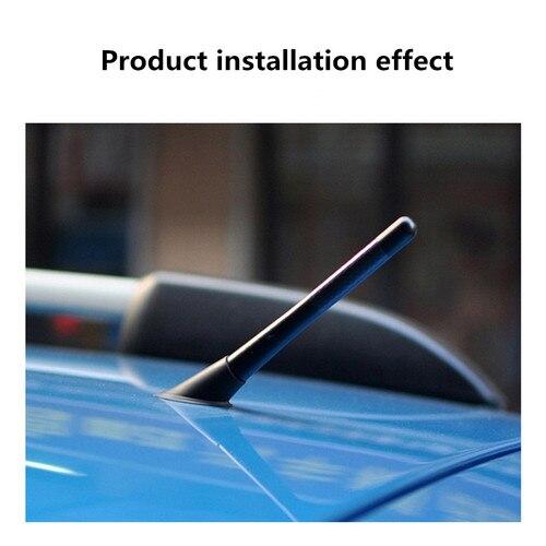8cm Car Short Antenna Aerial Radio Fm//Am Carbon Fiber Aluminum Screw Universal