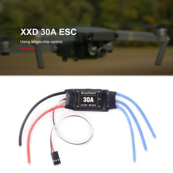 XXD 30A 2-4S ESC Brushless Motor Speed Controller RC BEC ESC 450 V2 Helicopter Boat for FPV F450 Mini Drone Accessory 1pcs ztw mantis 6a 12a 35a bec esc electronic speed control for rc models airplane helicopter