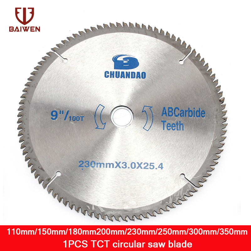 110mm/150mm/180mm/200mm/230mm/300mm/350mm  Circular Saw Blade For Wood Aluminum Cutting Rotary Tool 40-120 Teeth