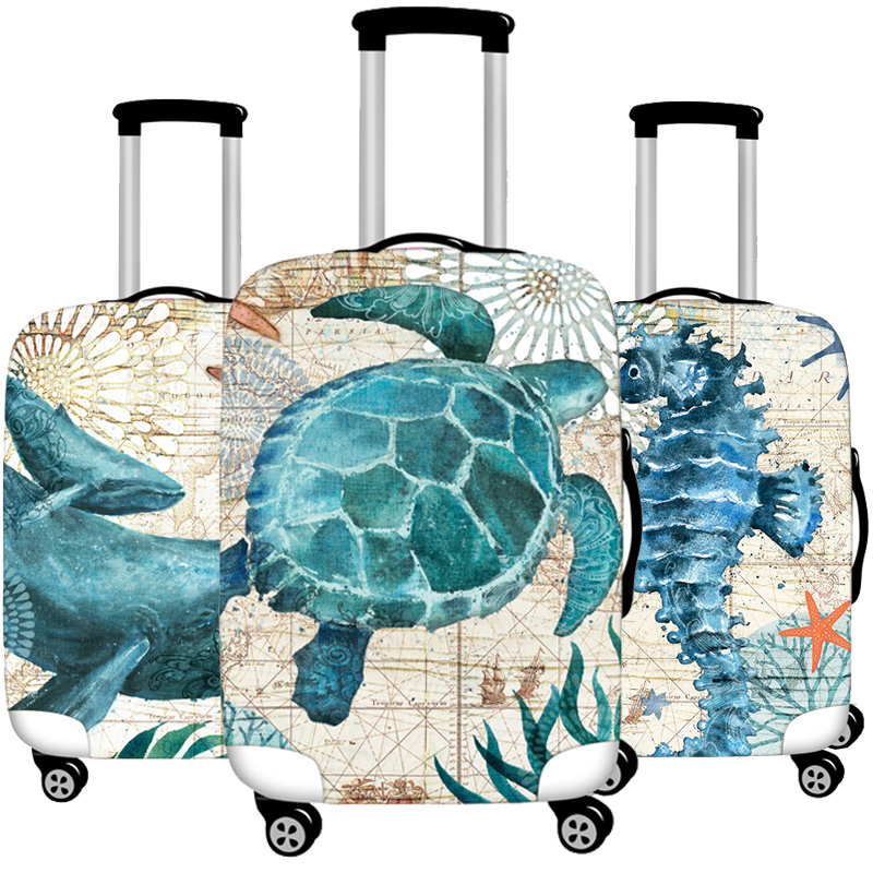 Luggage Protective Cover Case For Elastic Suitcase Protective Cover Cases Covers Xl Travel Accessories Turtle Octopus Pattern T1