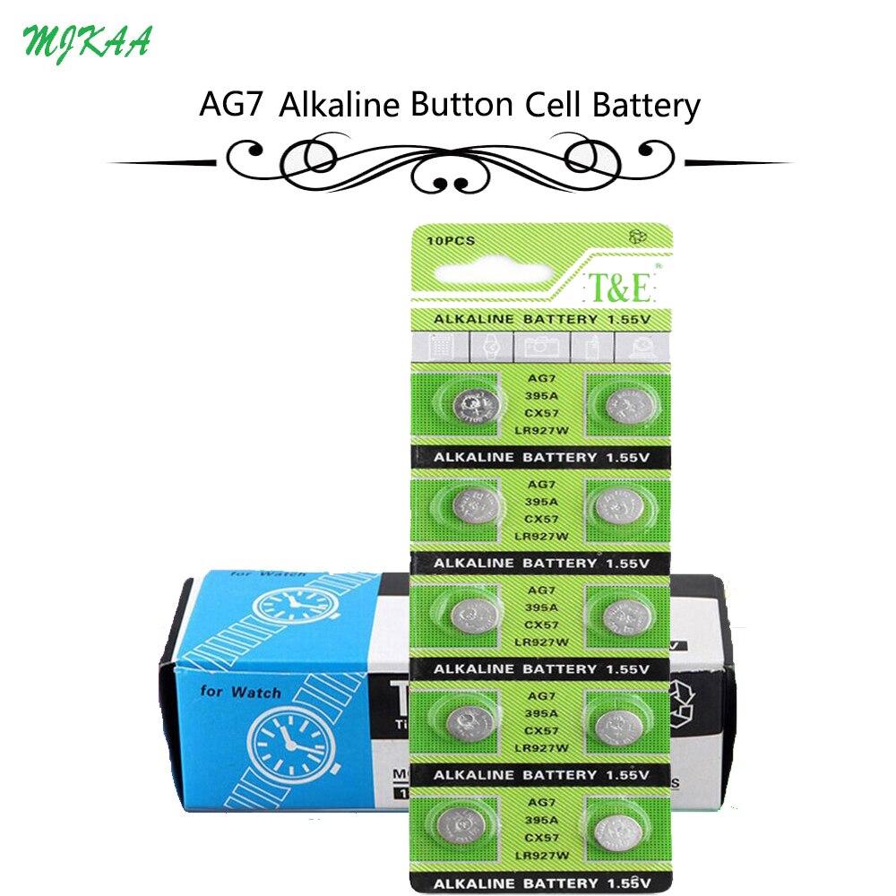 200 pièces = 20 carte AG7 piles bouton pile alcaline 1.5V GR927 395A pour LR927 LR57 SR927W 399 montre jouet électronique à distance