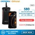 IP68/IP69K рация DOOGEE S80 мобильный телефон Беспроводная зарядка NFC 10080 мАч 12V2A 5 99 FHD Helio P23 Восьмиядерный 6 ГБ 64 Гб 16 0 м
