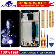 AiBaoQi pour MEIZU 15 écran daffichage à cristaux liquides + numériseur décran tactile pour Meizu MX 15 / M881hM881Q AMOLED écran daffichage à cristaux liquides avec cadre