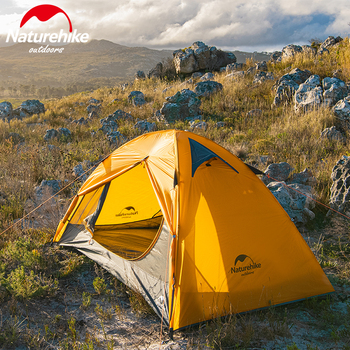 Naturehike 2 People Ultralight 20D Camping Tent Outdoor Cycling Trekking Hiking Backpacking Tents Waterproof PU4000 Green Orange naturehike 1 2 man camping tent outdoor 1 2 person ultralight hiking camp tents 1 25kg pu 4000mm
