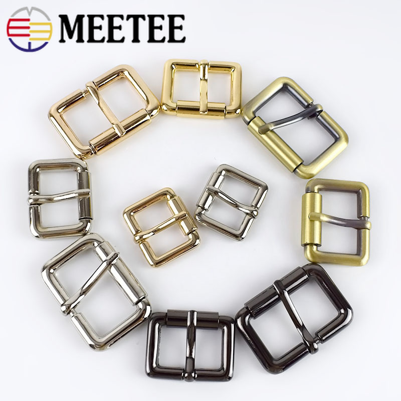 Meetee 5pcs 20 32mm Square Metal Buckle For Belt Backpack Strap Roller Pin Buckle DIY Leather Bag Hardware Accessories BD307 in Buckles Hooks from Home Garden