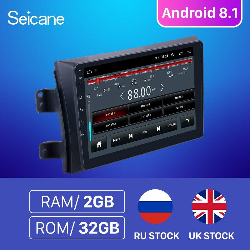 Seicane RAM 2GB Car Radio For 2006-2012 Suzuki SX4 Android 8.1 9 Inch 2Din 2.5D screen GPS Unit Player Support Rear camera DVR