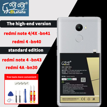 Lehehe bn41 New lithium battery for redmi note 4 High quality 4x аккумулятор replacement