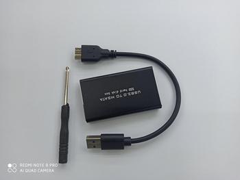 soupei Mini SSD Hard Drive Case USB3.0 to mSATA Adapter Hard Drive Enclosure Aluminum Alloy External Hard Disk Case