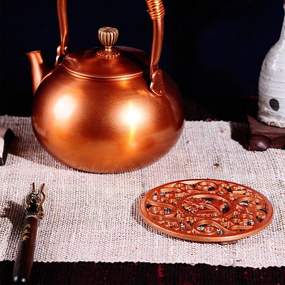 Trivet Mat Pad Multifunctional Cast Iron Teapot Table Tool Gift Holder Round Heat Insulation Dining Kitchen Supplies