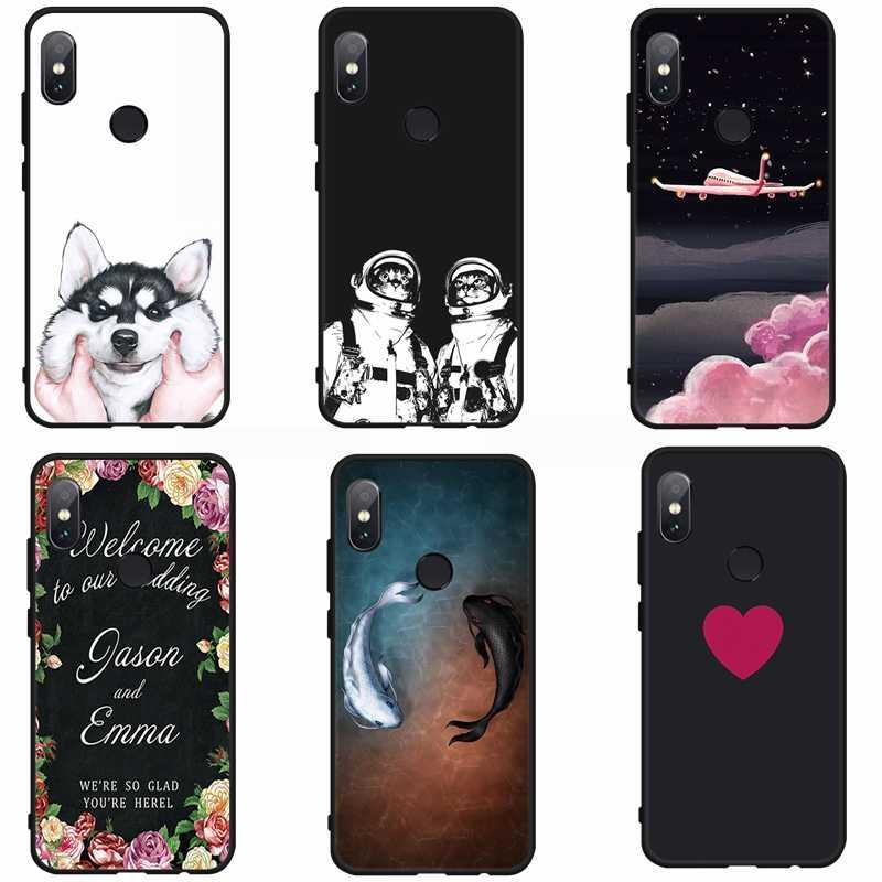 Cão bonito Phone Case Pintado Para Xiaomi Redmi 6pro 6A Back Cover Shell Para Xiaomi Redmi Nota 5 5Plus 4X 4A Matte Caso Capa