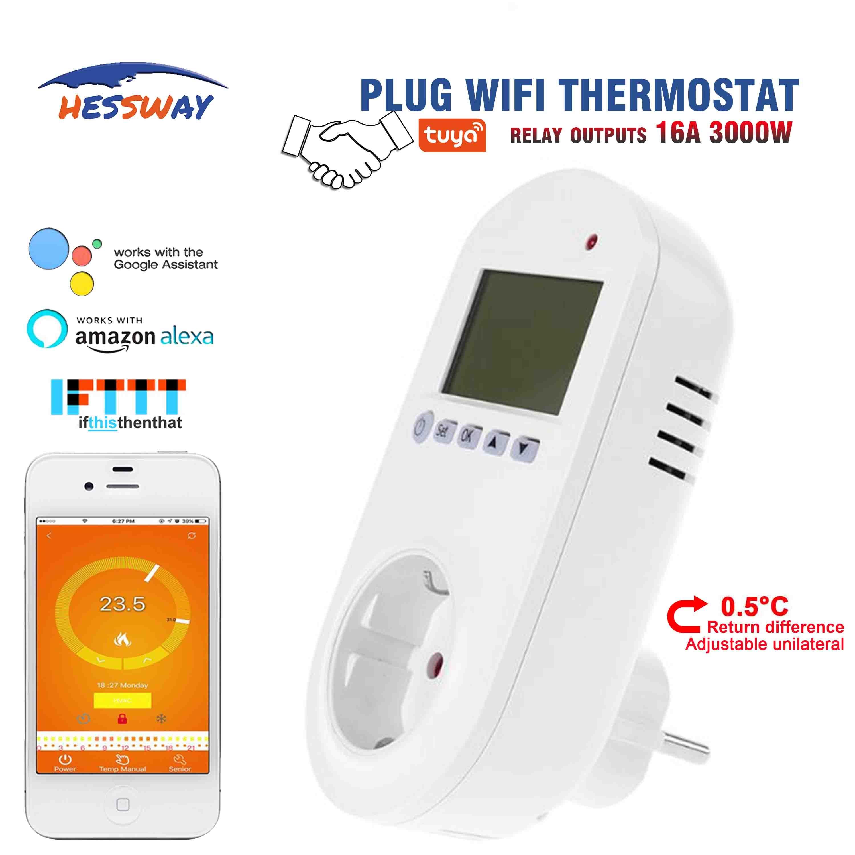 Hessway Tuya Wifi Plug Socket Smart Home Hvac Heating