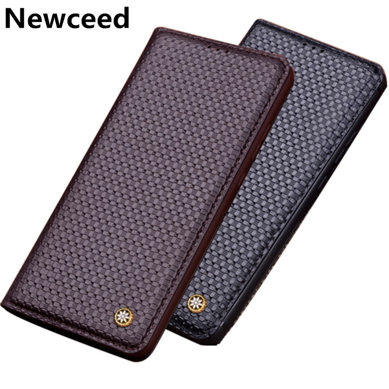 Genuine Leather Flip Cover Case For Samsung Galaxy J8 2018/Samsung Galaxy J6 2018 Magnetic Phone Case With Kickstand Phone Bag