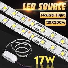 Neutral Weiß 4000K 34 LED Streifen Lichtquelle DIY für 20x20cm 17W Decke Wand Lampe