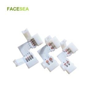 10 ~ 100 комплектов PCB разъем L форма 2pin 8 мм/10 мм/4pin 10 мм Светодиодная лента Разъем для 3528 5050 RGB Освещение Бесплатная сварка