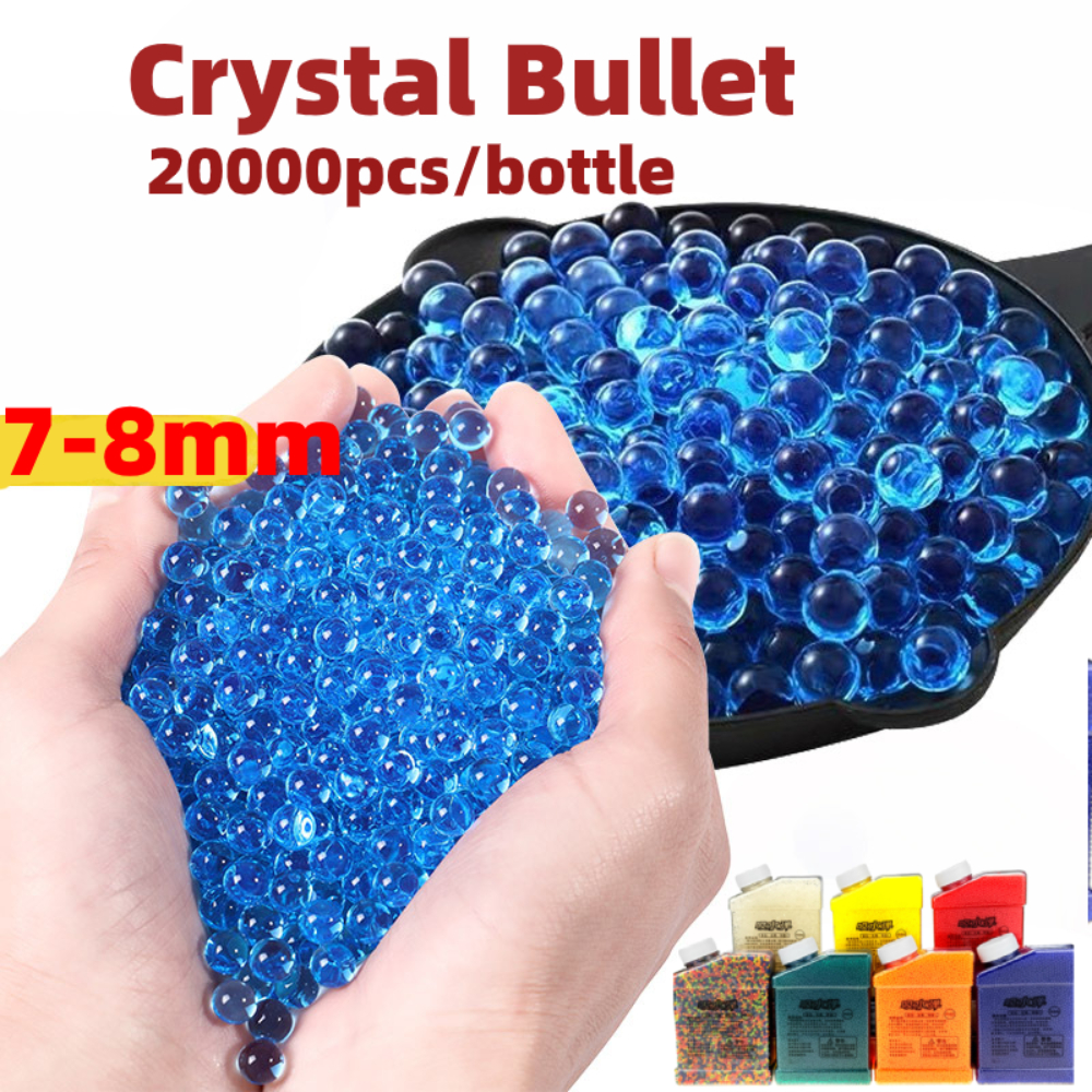 7-8mm 20000pcs/box Soft Water Bullets BB Gel Paint Ball Airsoft Ammo Beads Weapon Guns Blaster Accessories Glock Toys for Boys