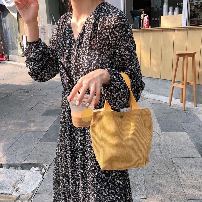 Moda mão-realizada mini saco de veludo cor
