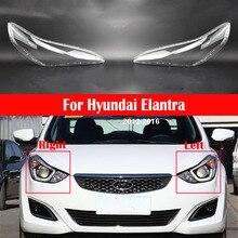 רכב פנס עדשה עבור יונדאי Elantra 2012 ~ 2016 פנס כיסוי החלפת אוטומטי מעטפת זכוכית מנורת אהיל שקוף בהיר