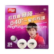 120 bolas de tênis de mesa dhs dhs d40 + 1-estrela laranja plástico abs bolas originais dhs amarelo ping pong bolas