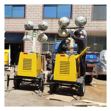 Mobile Lighting Vehicle Pneumatic Lifting Mast Lighting Work Light Gasoline and Diesel Engineering Lighting Vehicle