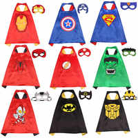 Halloween Anime Cosplay Kostüm Cape für Kinder Doppel Schicht Fleck Super Hero Cape mit Auge Maske Cosplay Anime Spiderman Kostüm