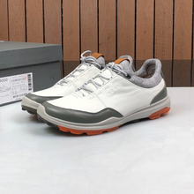 New men Genuine Leather Golf Shoes Walking Sneakers