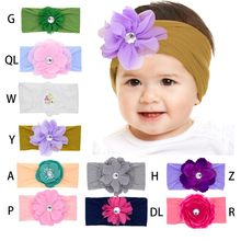 Flower Baby Headband Turban Knotted Baby Hair Accessories Newborn Baby Headwear Toddler Children Hairband Party Gift(China)