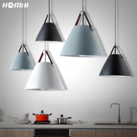 Nordic modern led pendant ceiling lamps black Gray master bedroom hanging light fixtures for kitchen danish design dining room