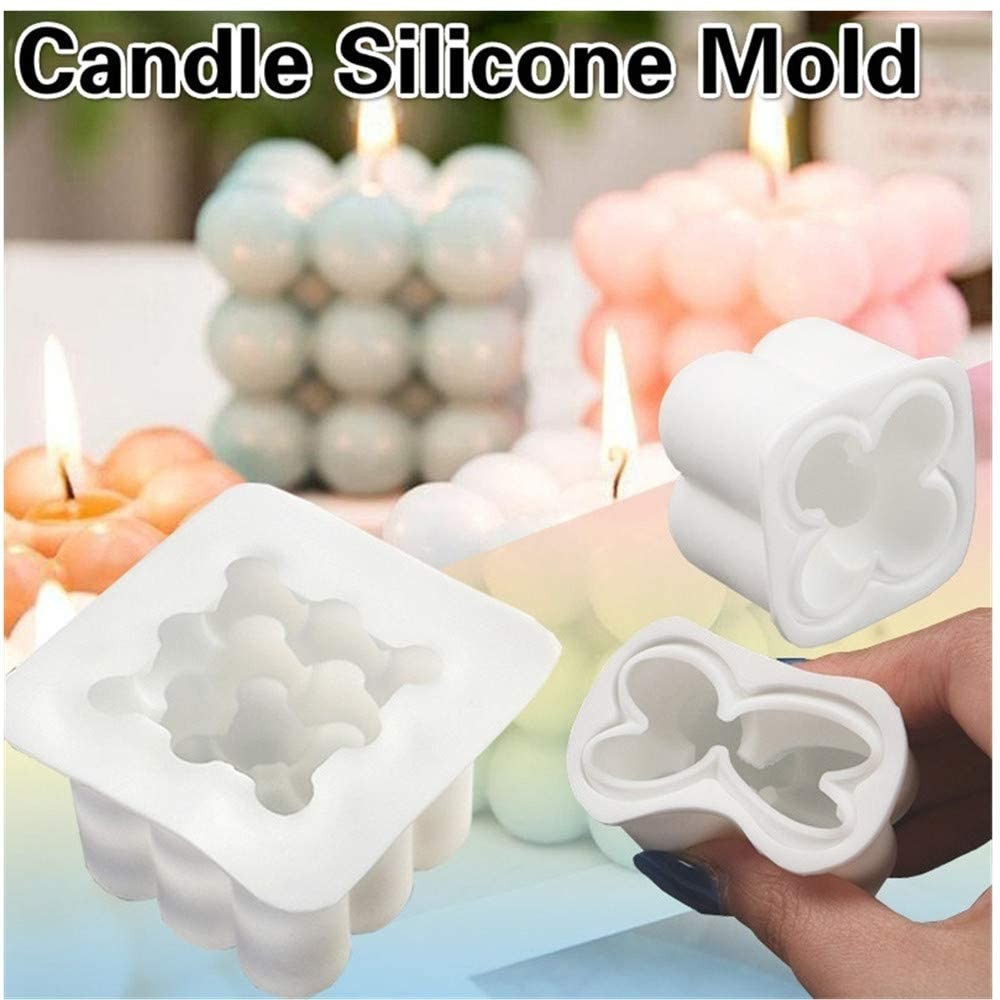 3D Rubik's Cube Candle Silicone Mold DIY Handmade Candle Making Tool Practical Cake Mold Creative Baking Tool Candle Mold